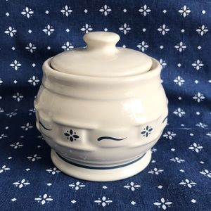 🌀Longaberger pottery sugar bowl